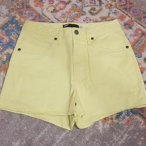 Fox Yellow, High-Waisted Shorts